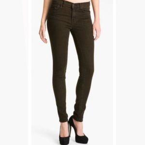 J Brand Noir Brown Skinny Leg Jeans